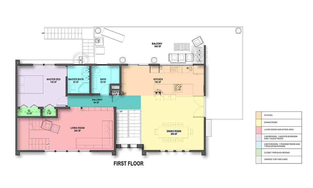 Energy efficient house design for Split level ranch floor plans